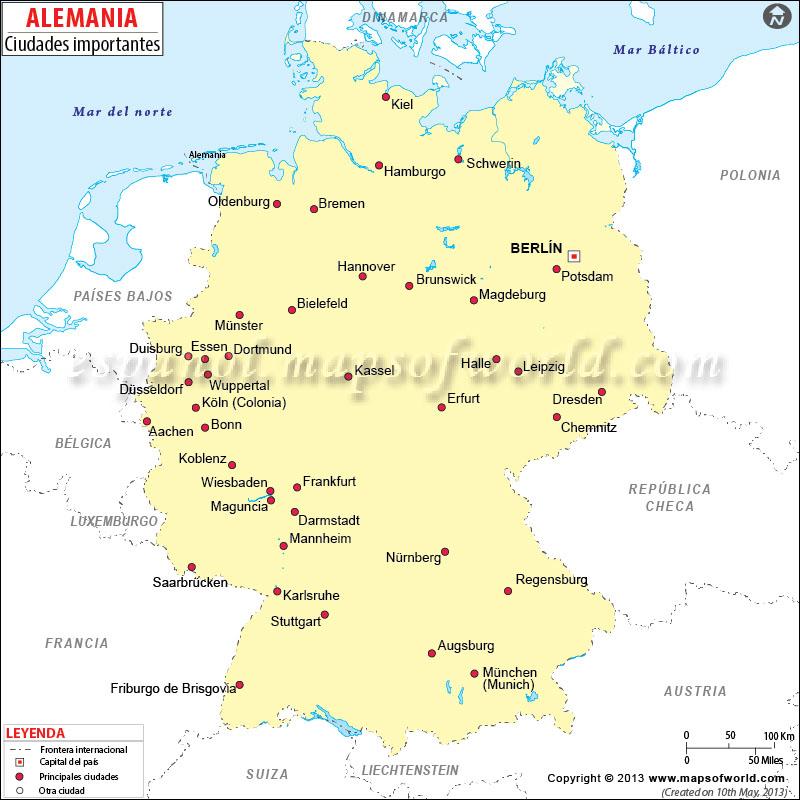 Mapa Politico De Alemania Actual.Mapa De Alemania Mapa Fisico Geografico Politico