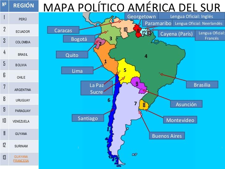 Mapa America Del Sur Con Nombres.Mapa De America Con Nombres Mapa Fisico Geografico
