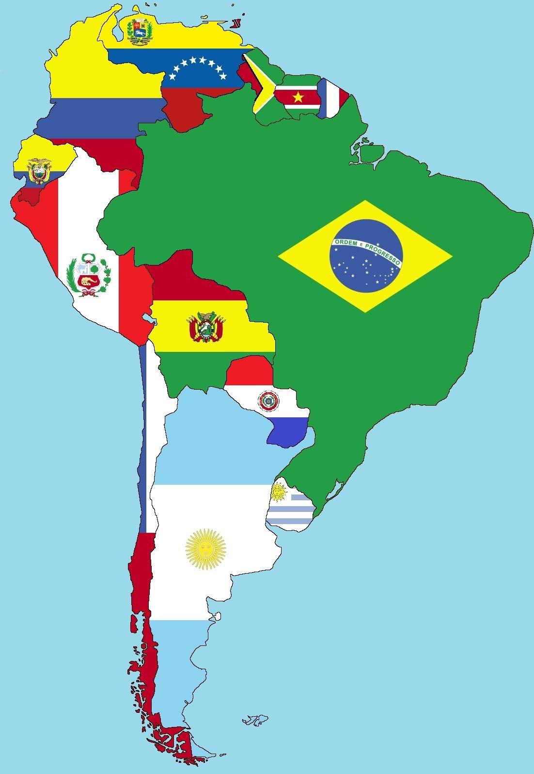 Mapa America Del Sur Con Nombres.Mapa De America Del Sur Mapa Fisico Geografico Politico