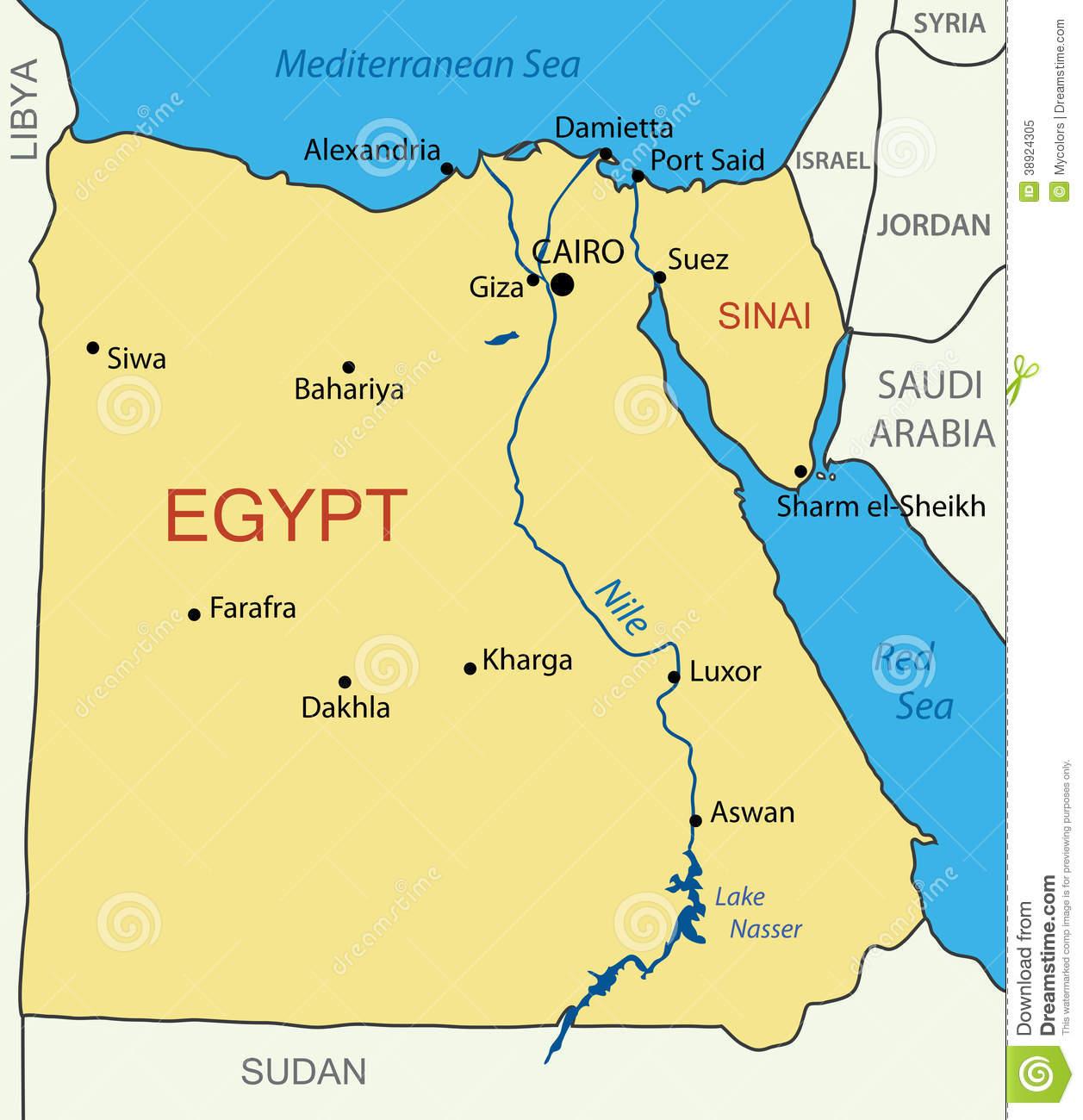 Mapa De Egipto Mapa Físico Geográfico Político Turístico Y Temático