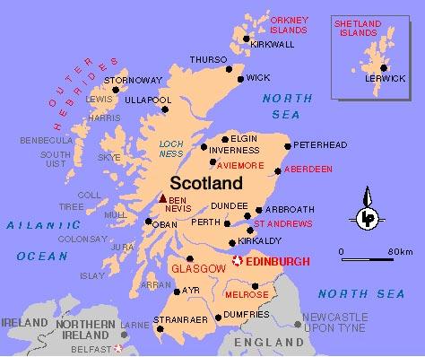 escocia mapa Mapa de Escocia   Mapa Físico, Geográfico, Político, turístico y  escocia mapa