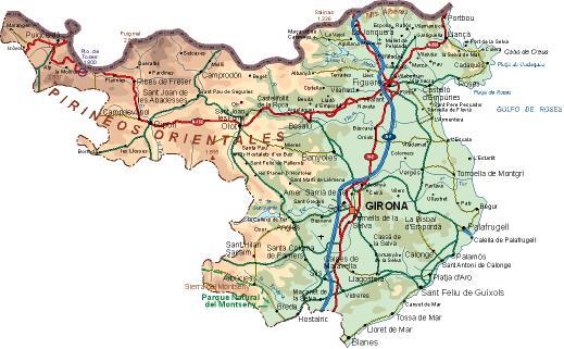 Mapa De Girona Mapa Fisico Geografico Politico Turistico Y