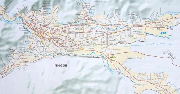 Mapa de Ibagu Mapa Fsico Geogrfico Poltico turstico y