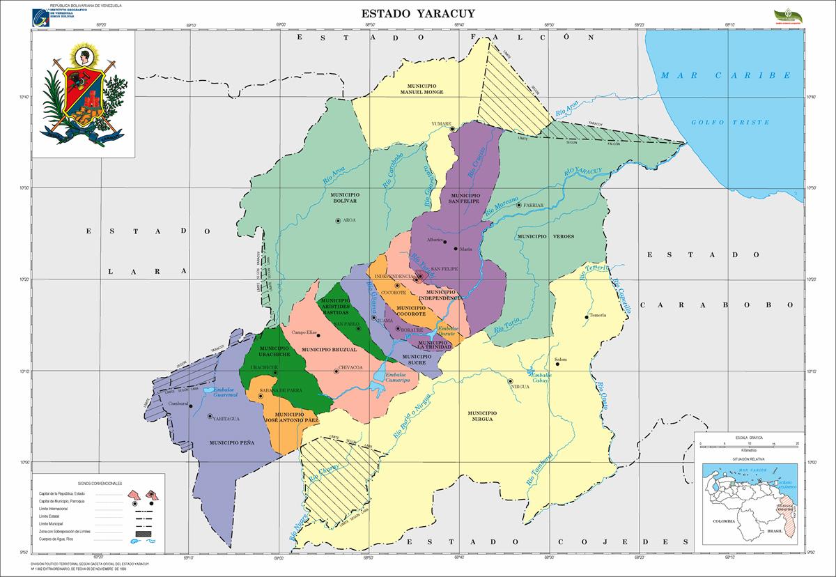 Mapa de Yaracuy