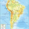 Mapa físico de America del sur