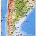 Mapa fisico Argentina politico