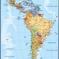 Mapa fisico de America latina