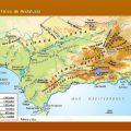Mapa fisico de Andalucia