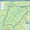 Mapa fisico de Corrientes