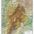 Mapa fisico de Cundinamarca