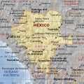 Mapa fisico de Durango
