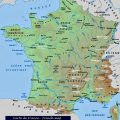 Mapa fisico de Francia