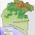 Mapa fisico de Huelva