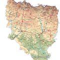 Mapa fisico de Huesca