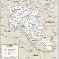 Mapa geográfico de Armenia