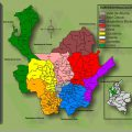 Mapa geografico de Antioquia
