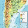 Mapa geografico de Argentina politico