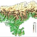 Mapa geografico de Cantabria