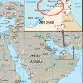 Mapa geografico de Dubai