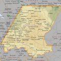 Mapa geografico de Huehuetenango