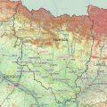 Mapa geografico de Huesca