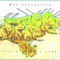 Mapa hidrografico de Cantabria