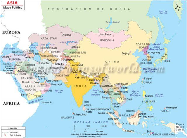 Mapa De Asia Fisico.Mapa Politico De Asia Mapa Fisico Geografico Politico