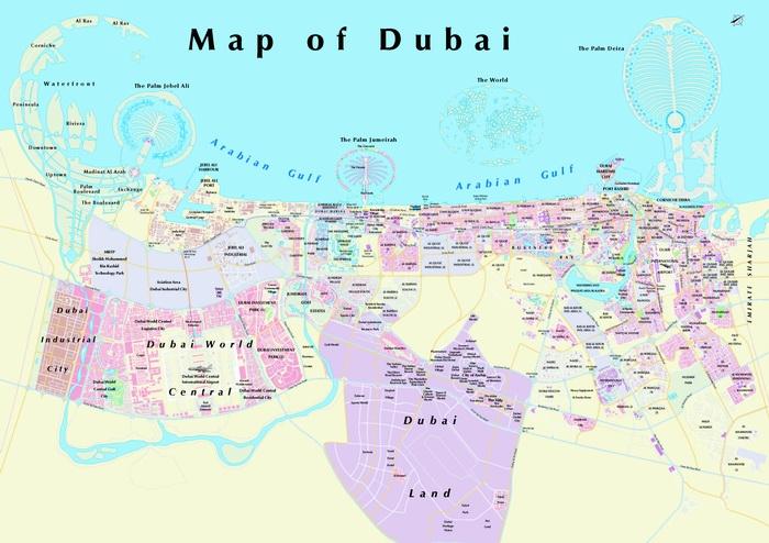Mapa De Dubai Mapa Fisico Geografico Politico Turistico Y