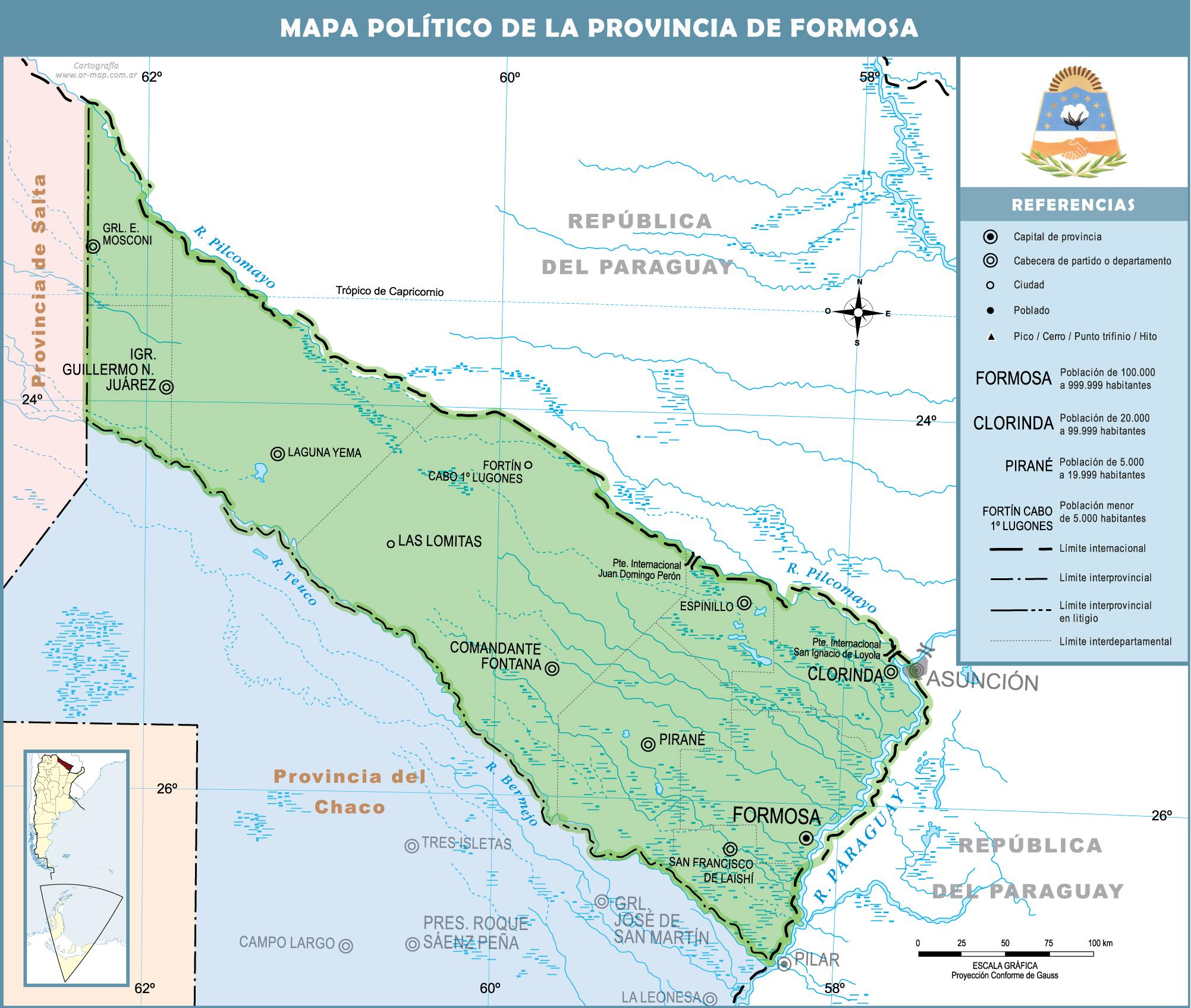 Mapa De Formosa Mapa Fisico Geografico Politico Turistico Y