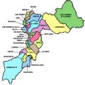 Mapa politico de Huancayo