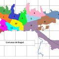 Mapa politico de Ibague