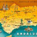 Mapa tematico de Andalucia