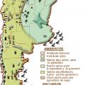 Mapa tematico de Argentina politico