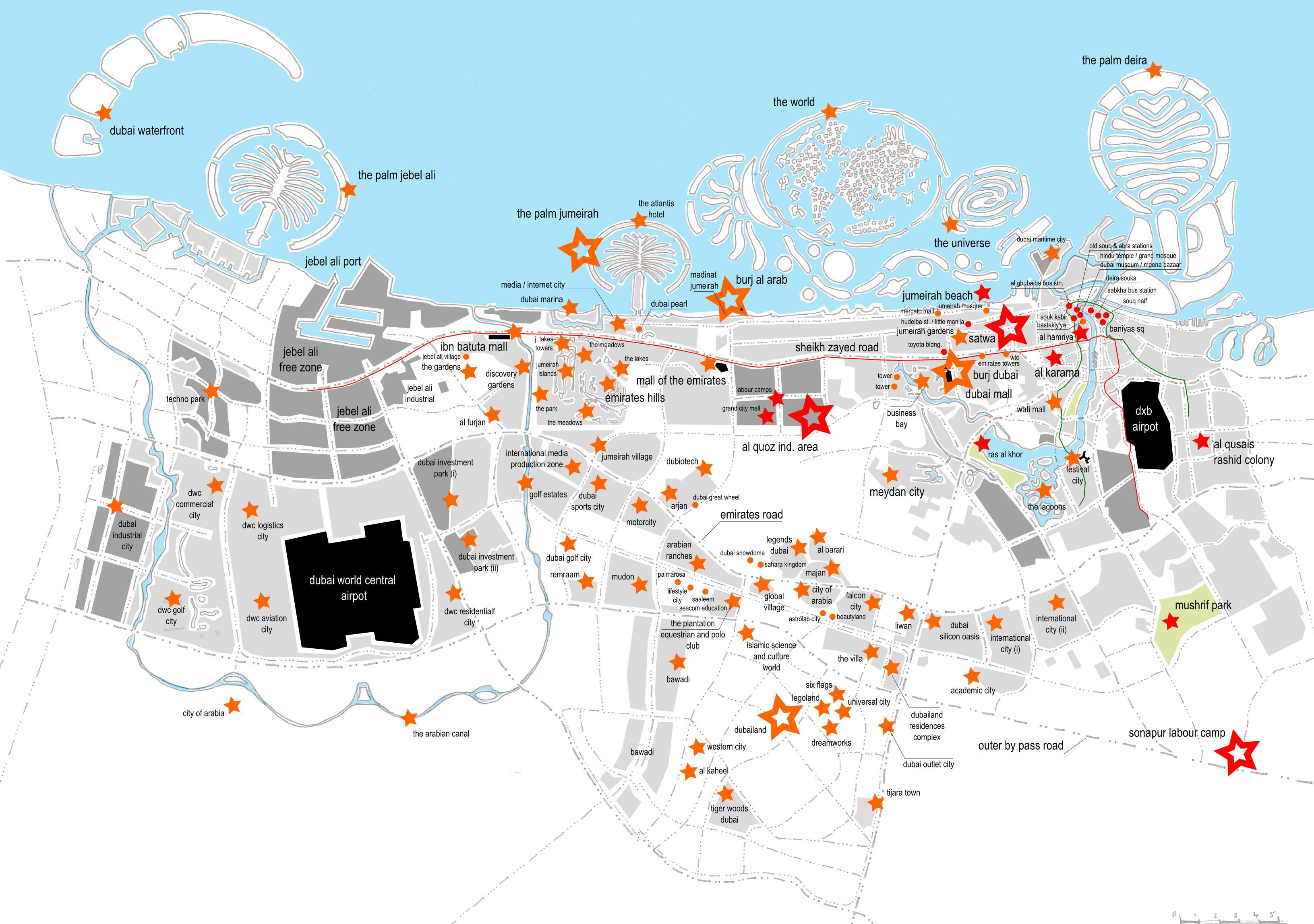 mapa turistico dubai Mapa de Dubai   Mapa Físico, Geográfico, Político, turístico y  mapa turistico dubai