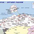 Mapa tematico de Falcon
