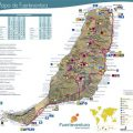 Mapa tematico de Fuerteventura