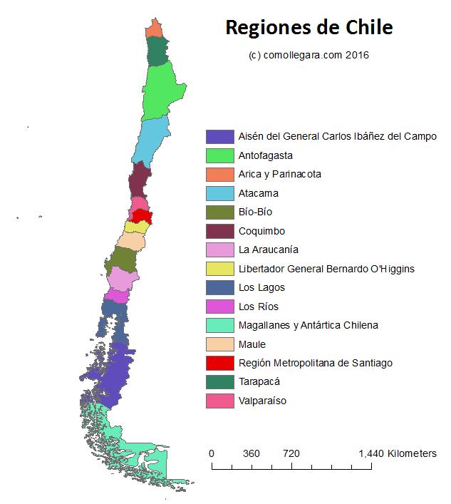 Mapa de chile mapa fsico geogrfico poltico turstico y mapa tematico de chile sciox Choice Image
