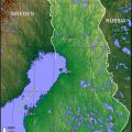 Mapa topografico de Finlandia