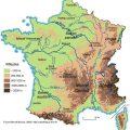 Mapa topografico de Francia