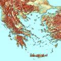 Mapa topografico de Grecia antigua