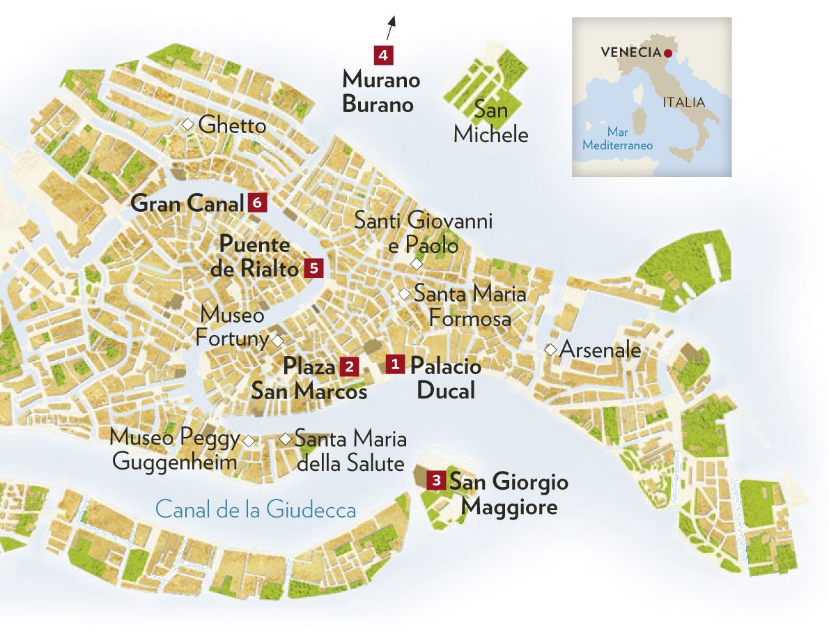 Mapa de Venecia - Mapa Físico, Geográfico, Político, turístico y ...