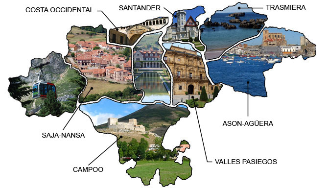 Mapa Turistico De Asturias Y Cantabria.Mapa De Cantabria Mapa Fisico Geografico Politico