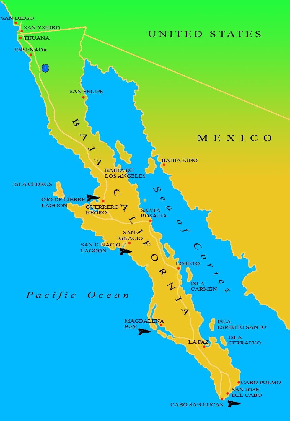 Mapa De Baja California Mapa Fisico Geografico Politico