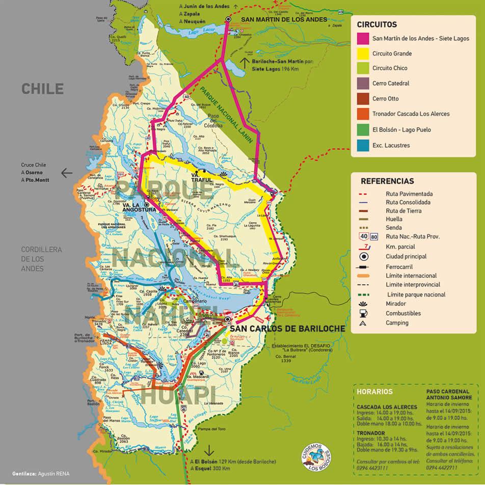 Circuito W Mapa : Mapas de bariloche mapa físico geográfico político turístico y