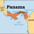 mapa de panama