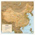 mapa fisico de China
