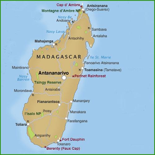 Isla De Madagascar Mapa.Mapa De Madagascar Mapa Fisico Geografico Politico
