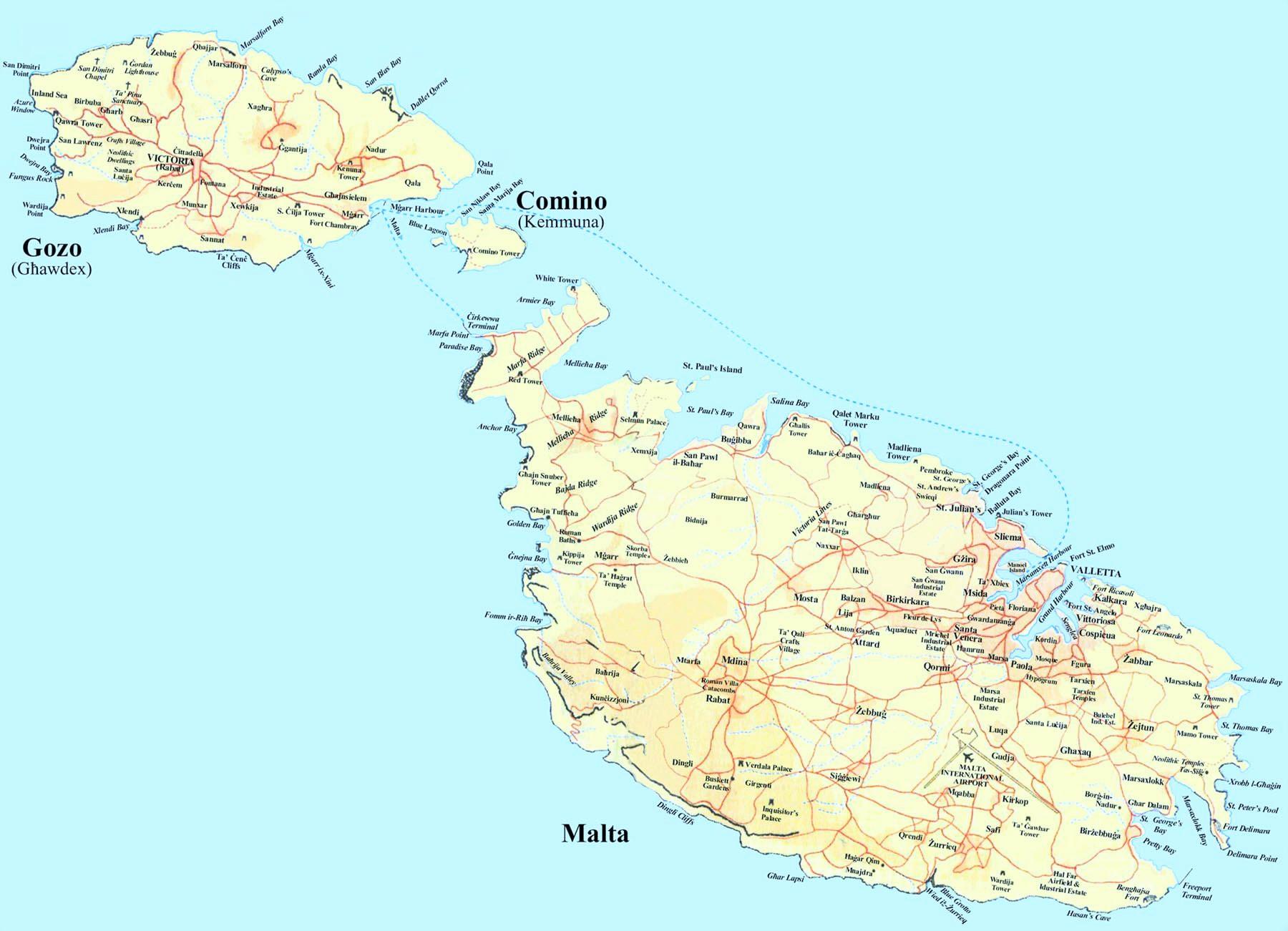 mapa de malta Mapa de Malta   Mapa Físico, Geográfico, Político, turístico y  mapa de malta