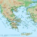 mapa geografico de Grecia antigua