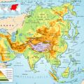 mapa geografico de asia